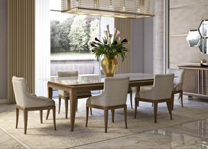 Art. 5060, Dining table in canaletto walnut