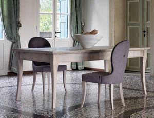 Ca' Venier Art. CV08/A/S, Walnut wood dining table