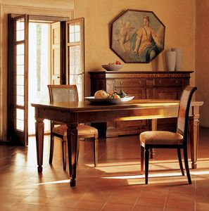 Ca' Venier Art. CV09/A, Classic dining table, in solid walnut