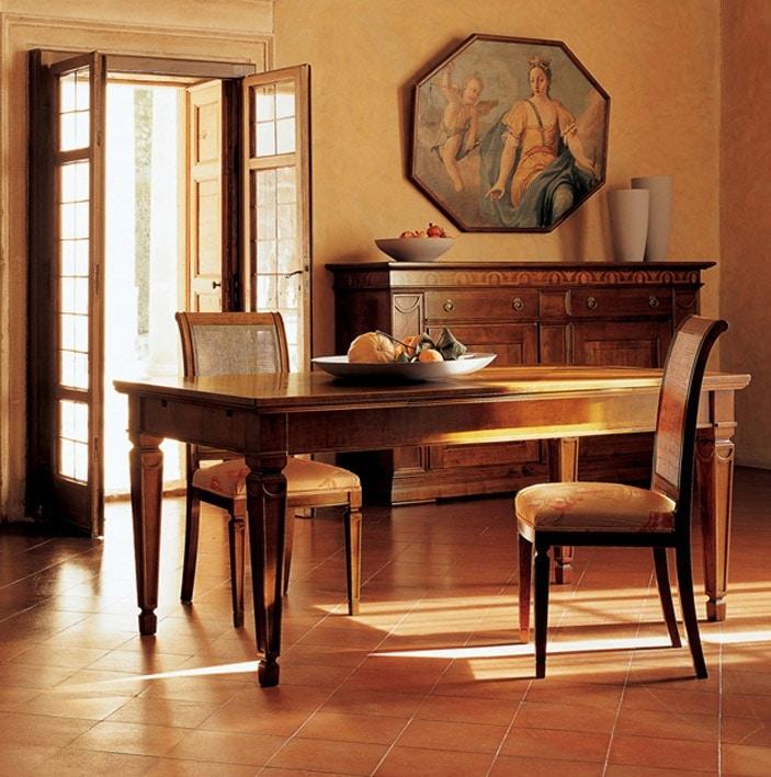 Ca' Venier Art. CV09/A, Classic dining table, in solid walnut