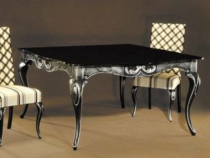 Ester table, Elegant table in black lacquered wood