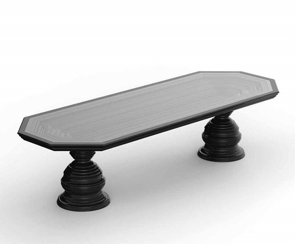 Frames Art. T03, Dining table with double base