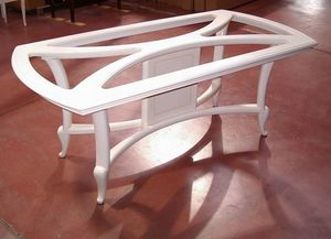 Hilton table, Ivory lacquered dining table