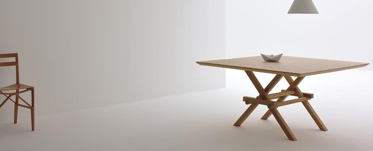 Leonardo 5710/F, Wooden table inspired by Leonardo da Vinci