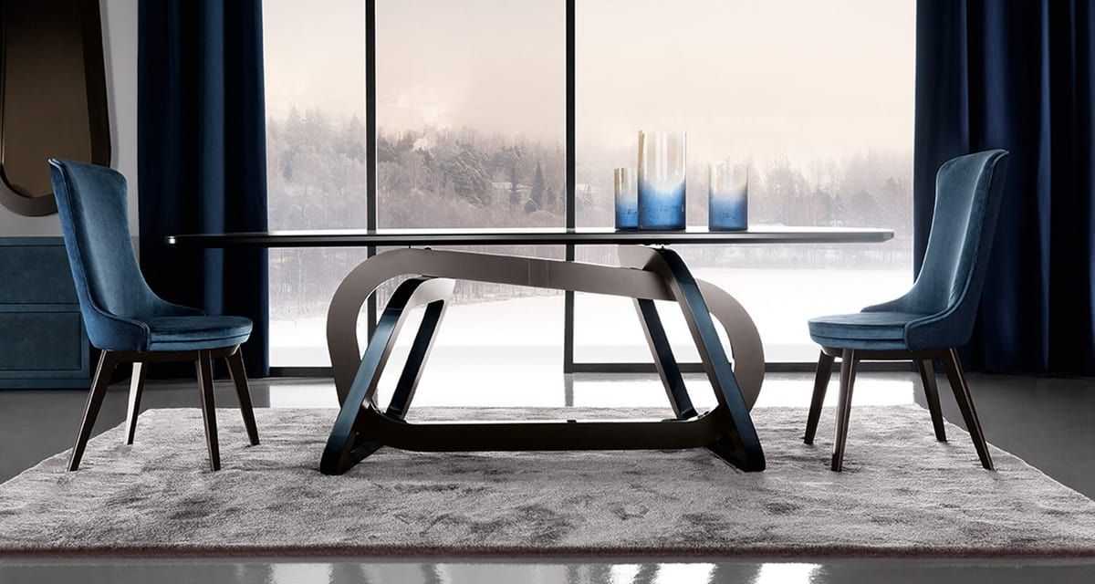 Loop Art. 302-RV1S, Table with an elegant base