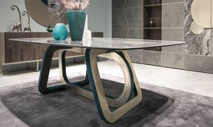 Loop Art. 302-RV2G, Table with porcelain stoneware top
