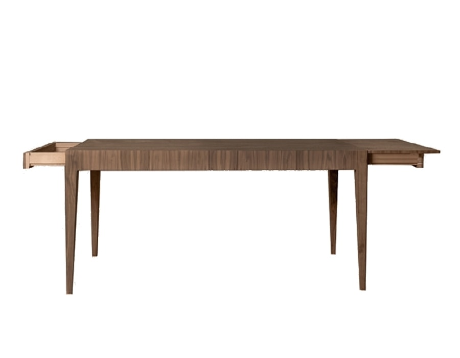 Malibù 5717/F, Wooden table with 2 side drawers