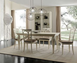New Age Art. NA009, Dining table with turned legs