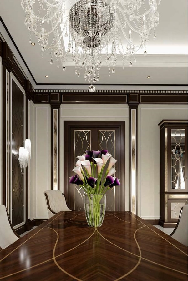 New York table, Wooden table for elegant dining rooms
