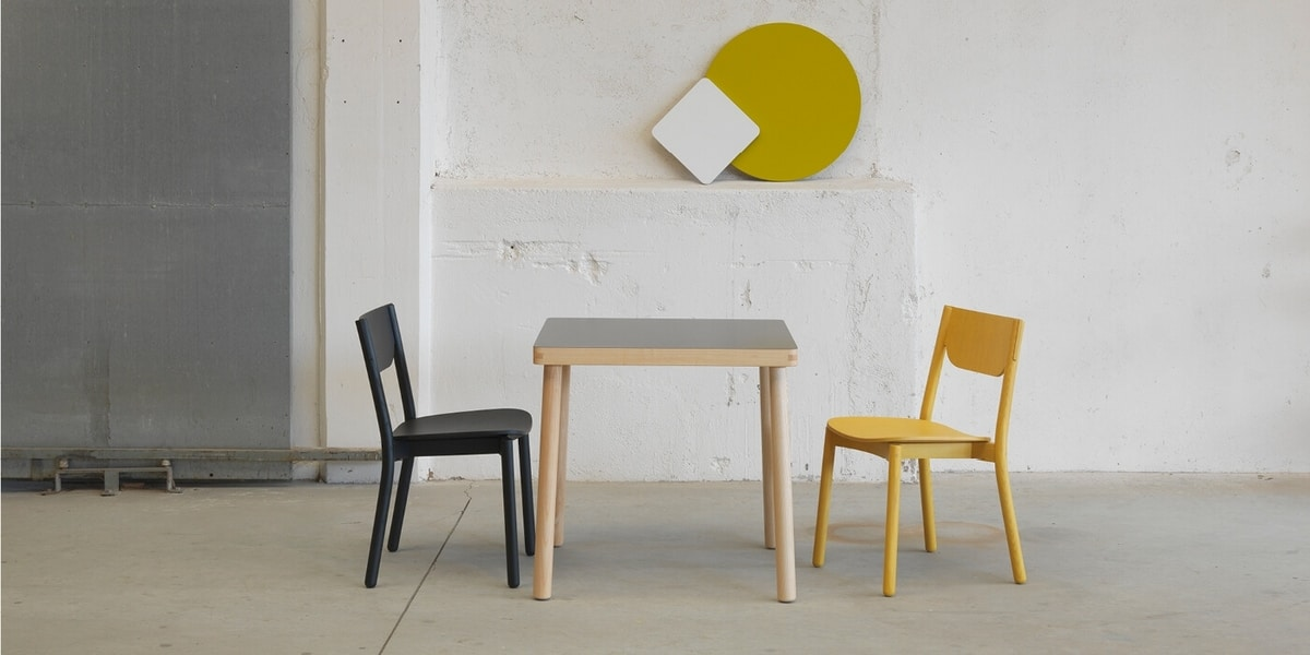 Nico table, Solid ash wood table