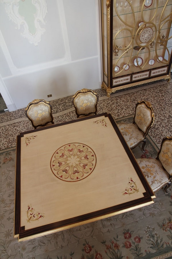 Nobile table, Dining table with inlaid top