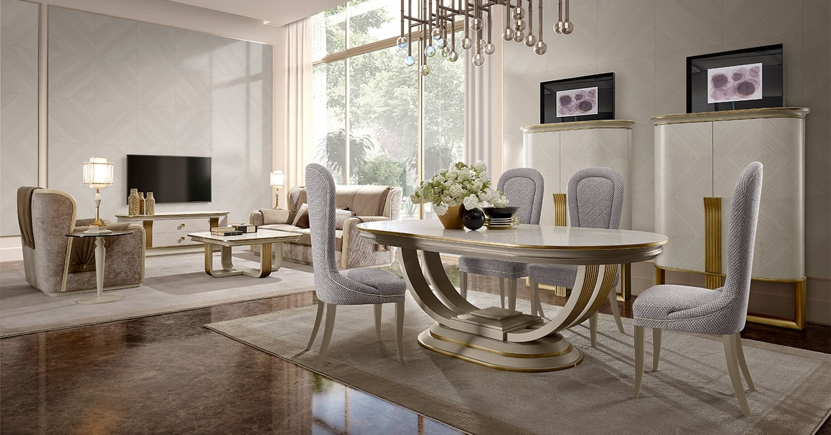Oliver Art. OL06, Oval dining table