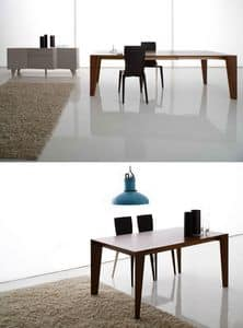 Plus 558, Canaletto walnut table, veneer, for dining room