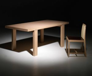 Tavira PR.0010, Contemporary oak table with orthogonal legs