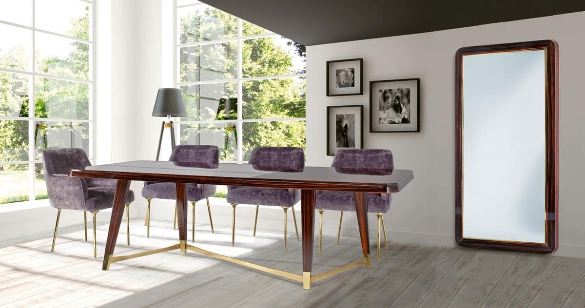 W06DT, Elegant wooden table for dining room