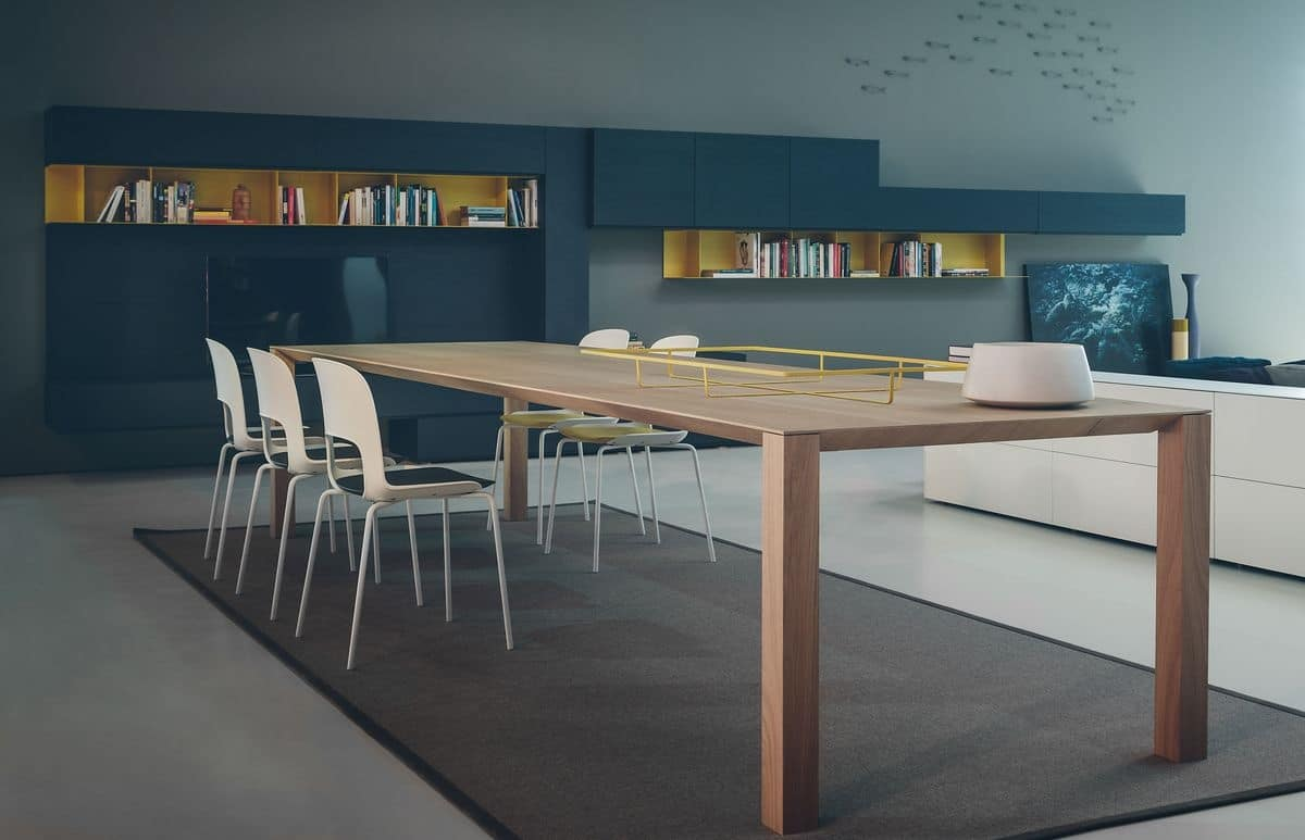 Woody, Wooden dining table, available in various sizes