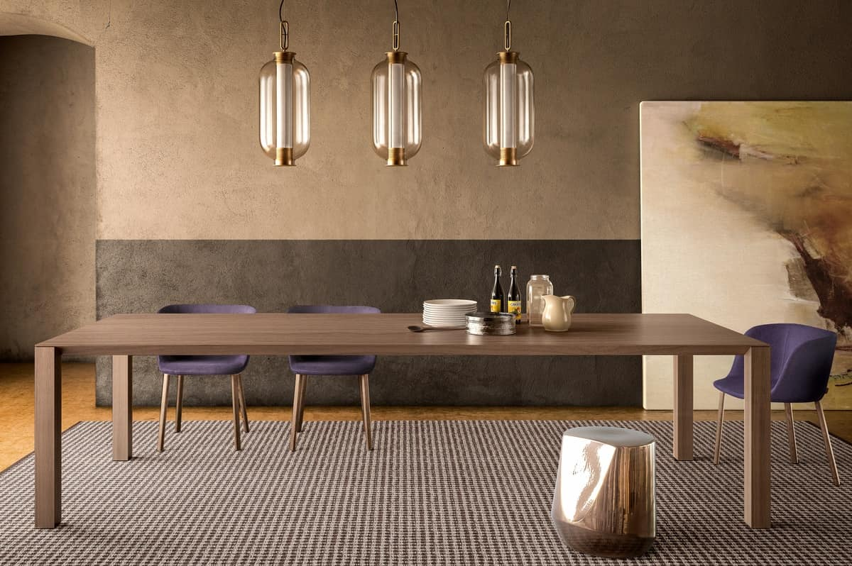 Tavolo Da Pranzo 3 Metri wooden dining table, available in various sizes | idfdesign