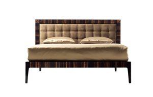 700102 Zarafa, Ebony bed, with nubuck headboard