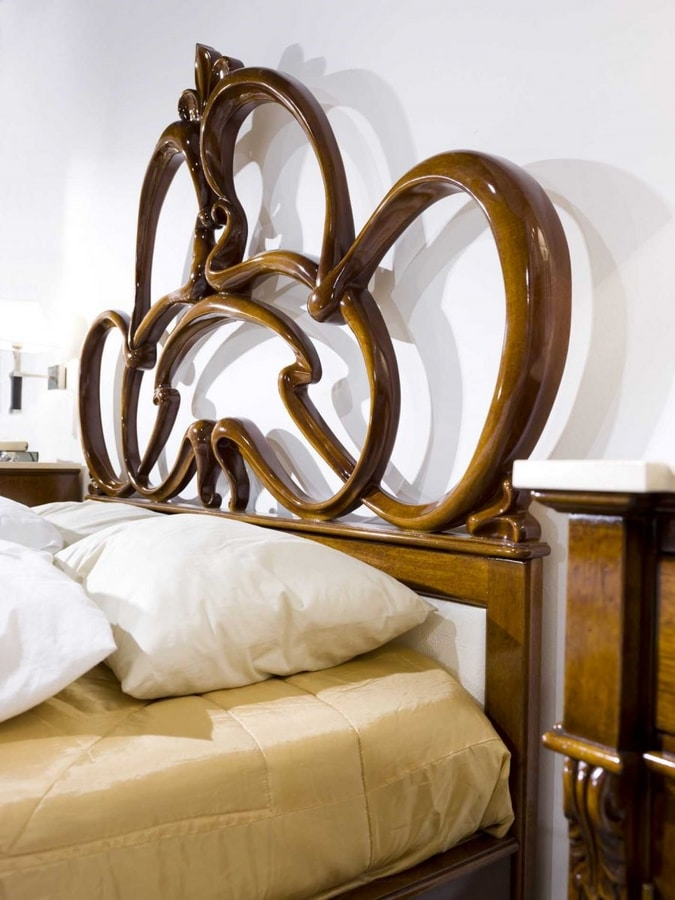 Anthea bed, Walnut bed