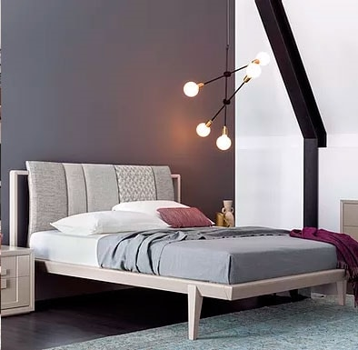 Aurea, Bed with padded paneled headboard