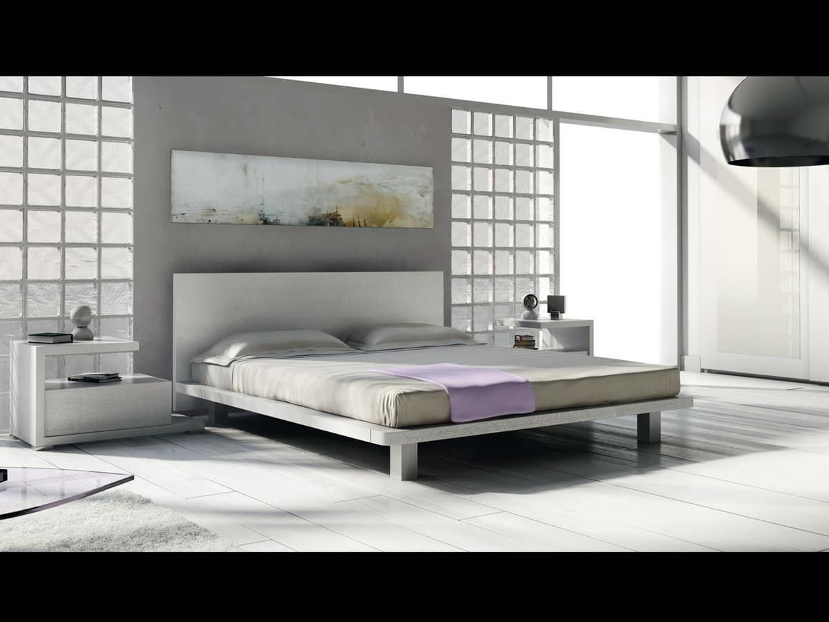 Bed Design 22, Double bed made entirely of wood