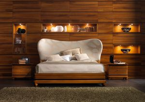 Elettra Art. EL015T, Bed with padded headboard with rounded shapes