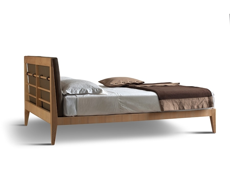 Felice 2890, Bed with slatted headboard and removable cushions