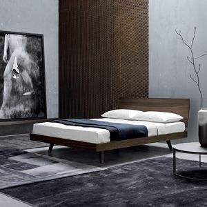 FILO, Double bed with wooden headboard