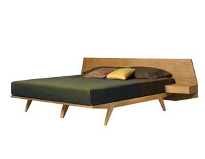 Gi� 2887, Wooden bed with integrated bedside tables