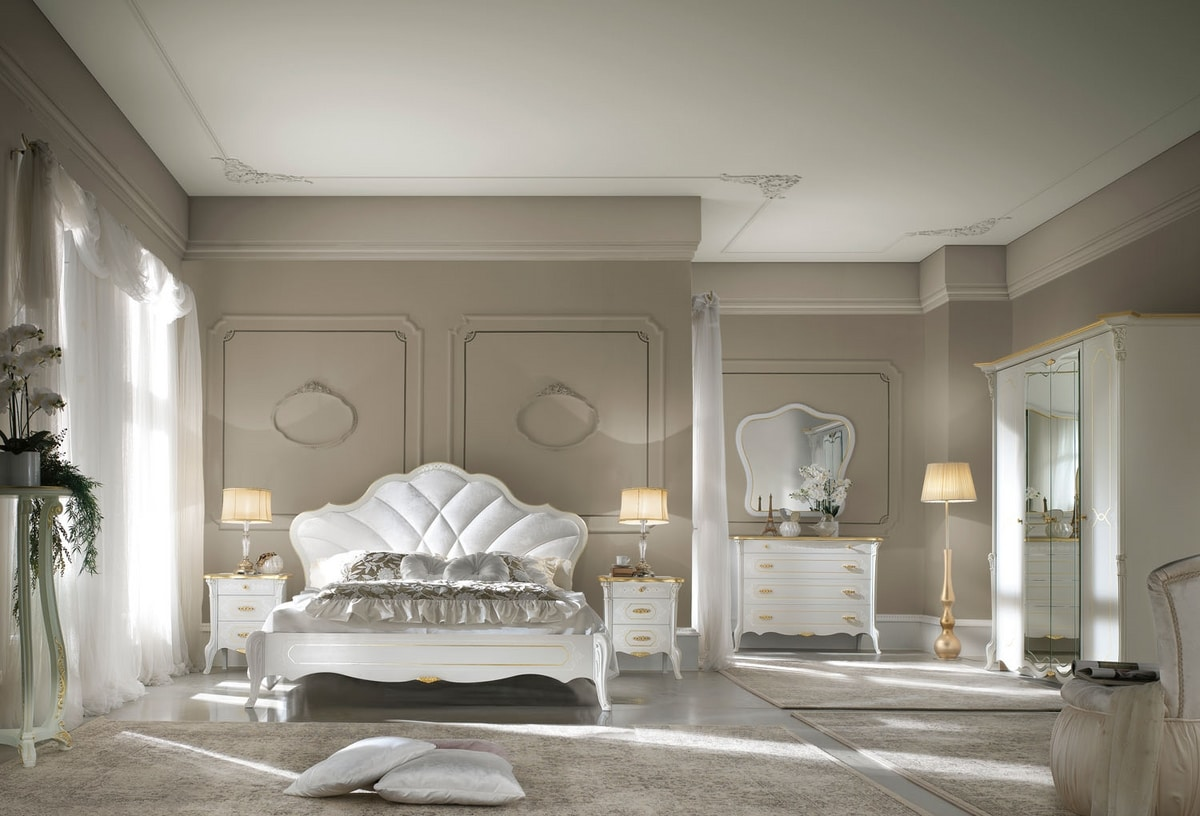 Giulietta Art. 3302 - 3304, Bed with classic lines