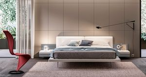 GIULIETTA, Bed with built-in bedside tables