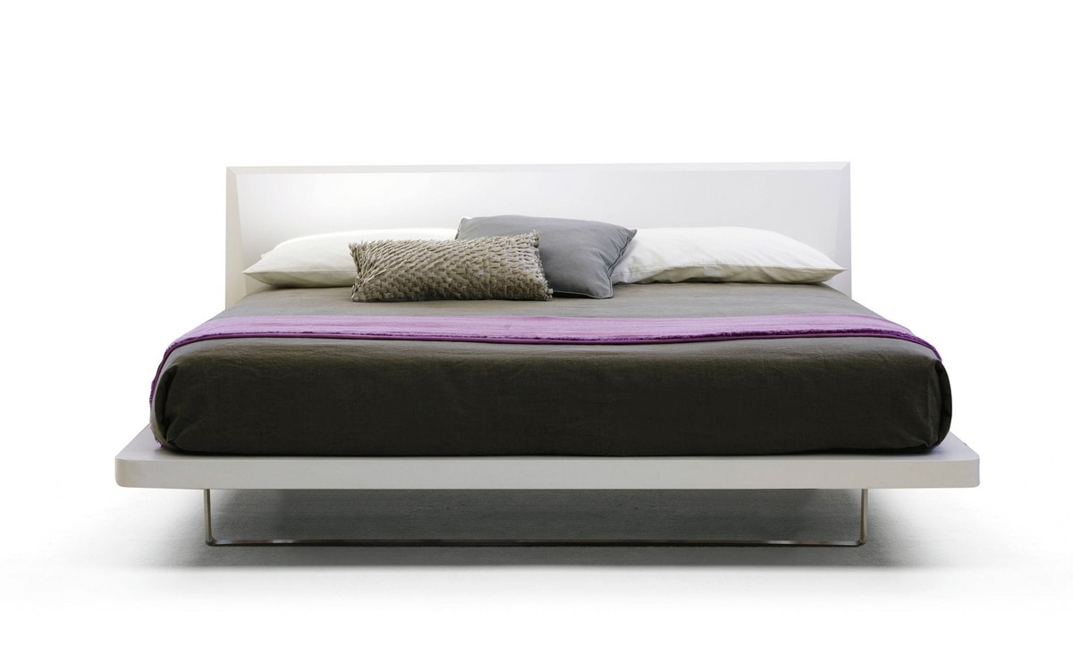 IBIZA, Double bed, lacquered structure