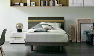Joker, Wooden bed with customizable headboard