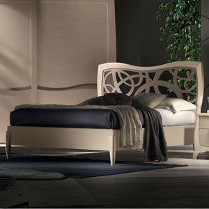 Luna LUNA5104-160, Double bed with perforated headboard