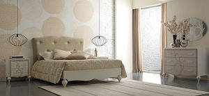 New Age Art. NA015/A, Bed with upholstered headboard