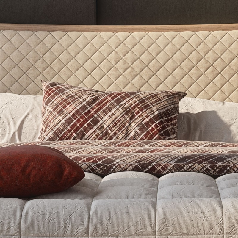 Nova NOVA1313TG, Wooden bed with quilted padded headboard