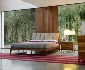 P-112, Harmonious bed with upholstered headboard