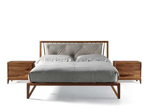 P-120, Wooden bed with refined curvature on the headboard