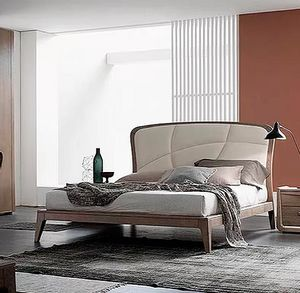 Plus, Bed with soft padded headboard