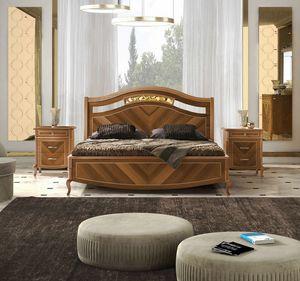 Prestige 2 Art. 4302, Walnut bed, with inlays