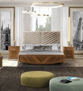 Prestige 2 Art. 4322, Bed with inlaid footboard