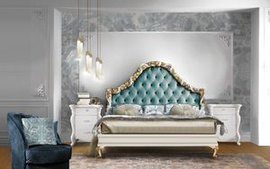 Puccini Art. 7501_7502, Bed with capitonn� headboard