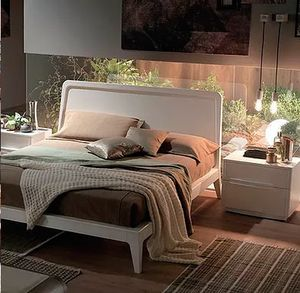 Simple, Wooden bed with an essential design