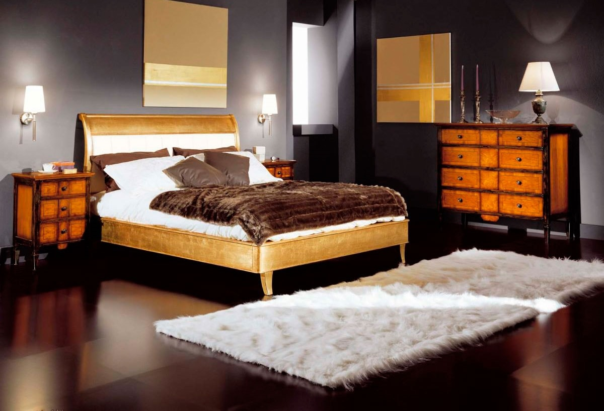 Sinfonia bed, Wooden bed, classic style