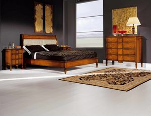 Sinfonia walnut bed, Directory style wooden bed