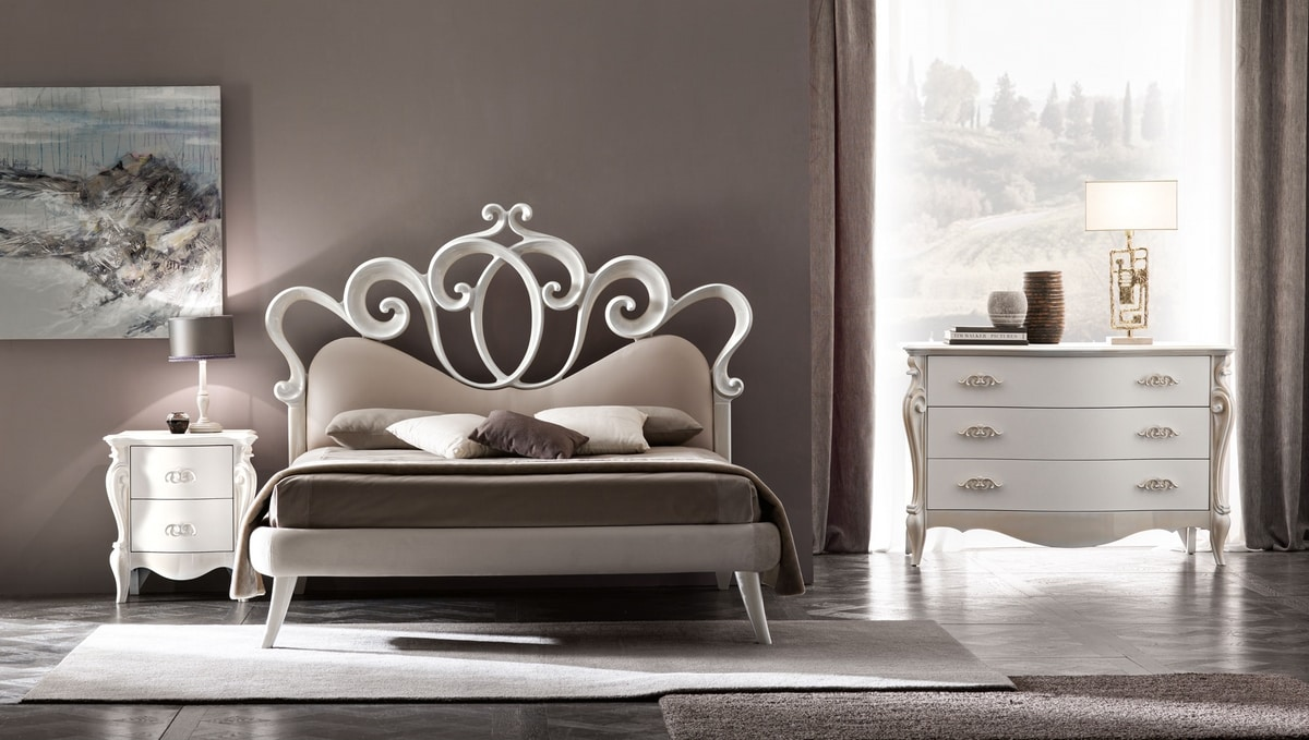 Sofia Art. 898, Bed with a romantic and refined taste