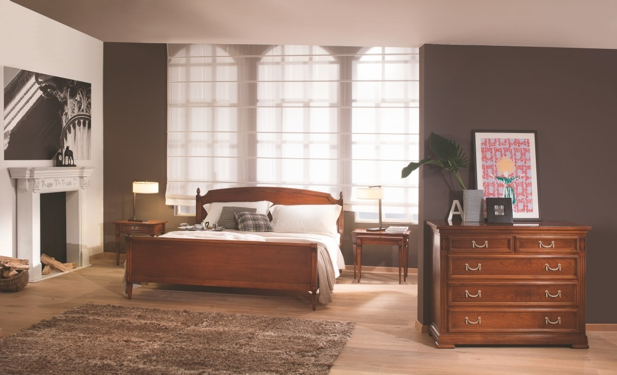 Villa Borghese double bed 2371, Directoire style double bed