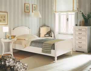Villa Borghese single bed 2370, Directoire style single bed