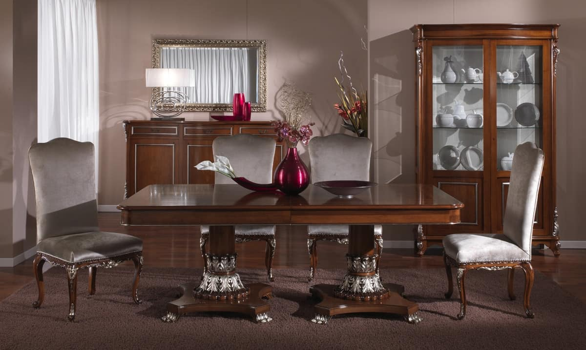 3625 TABLE, Luxurious table, hand carved, classic style