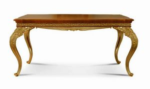 4604/T, Extendible classic table, in carved wood